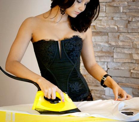 Как убрать следы от утюга