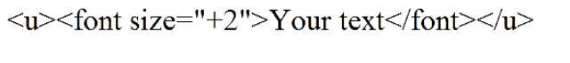 Как подчеркнуть текст