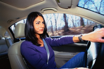 The woman is quite able to learn to drive no worse than men, and sometimes even better