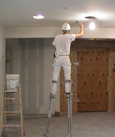 Шпаклёвка стен и потолка