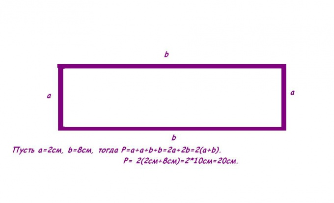 Периметр прямоугольника.