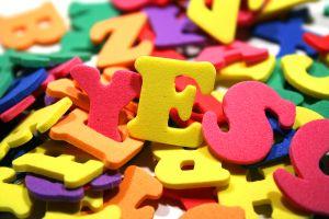Из этих красивых букв можно писать не только слова, но и картины.
