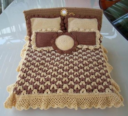 And this is the second option - knitted <b>bed</b>