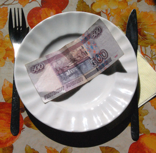 How to live on 500 roubles in one week