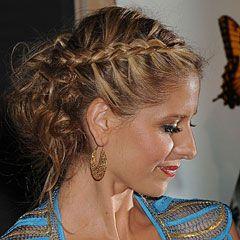 Как сделать красивую <strong>прическу</strong> для <b>средних</b> <em>волос</em>