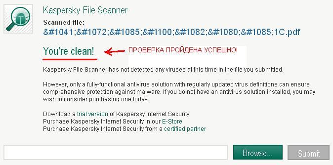 Как проверить <strong>файл</strong> на <b>вирусы</b>