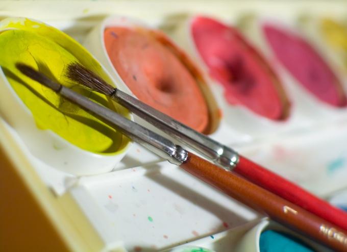 Рисуем акварельными красками
