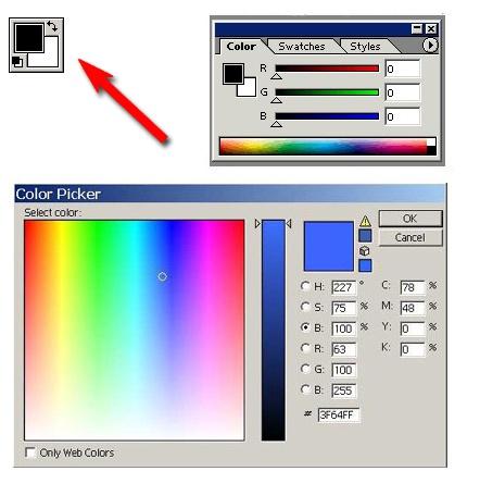 Как сделать <strong>кисти</strong> в <b>фотошопе</b> <em>цветными</em>