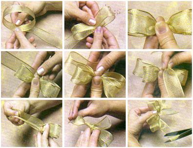 Как сделать красивый бант из ленты
