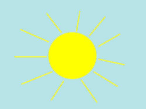 Как нарисовать солнышко