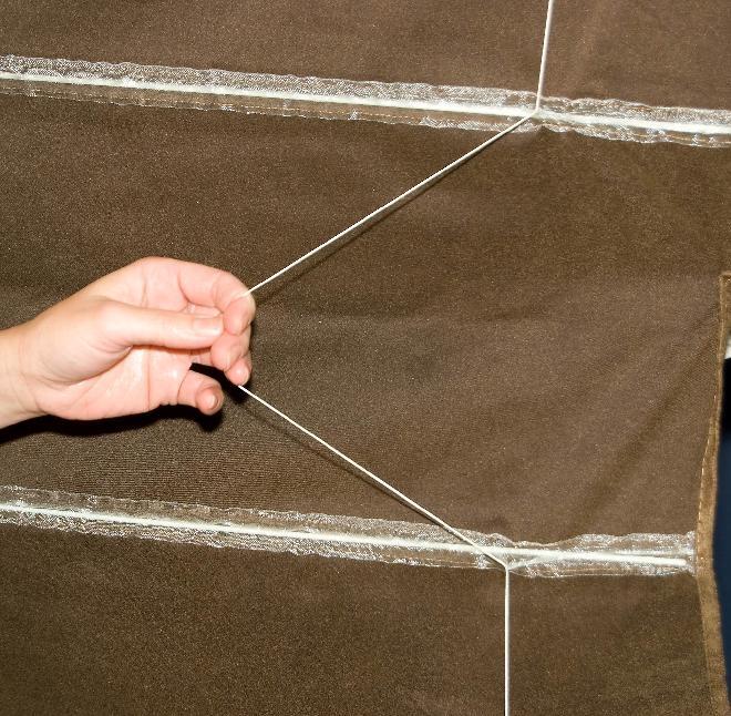 Как повесить римскую штору
