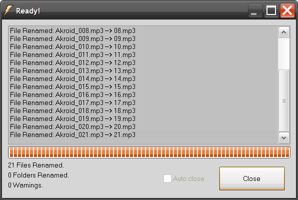 Как пронумеровать <strong>файлы</strong>