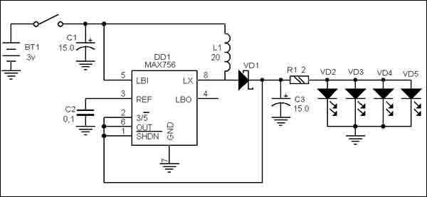 Как сделать светодиодный <strong>фонарик</strong>