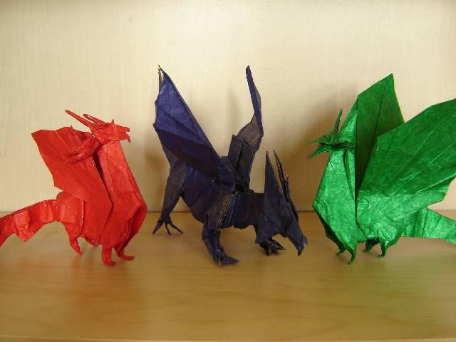 Как сделать дракона лист