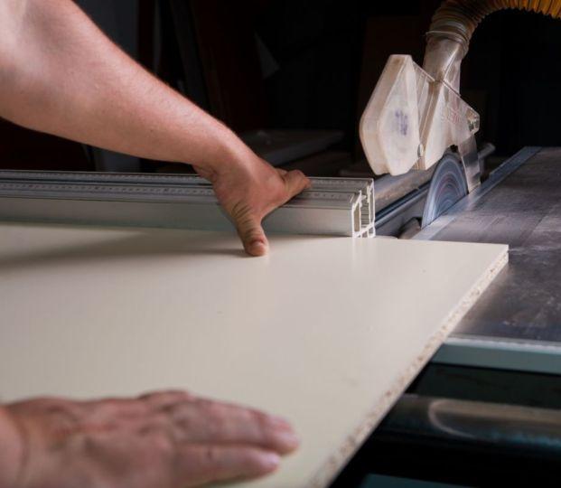 Как распилить ламинированное ДСП :: распил дсп в домашних условиях :: Строительные материалы