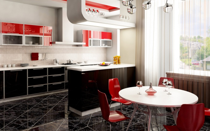 Как правильно расставить мебель на кухне