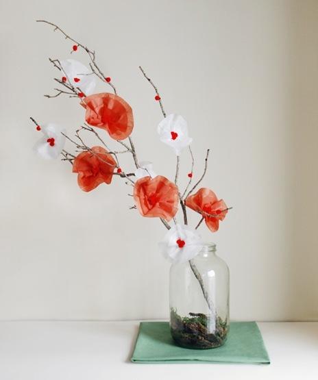 Как сделать цветы для топиарий своими руками