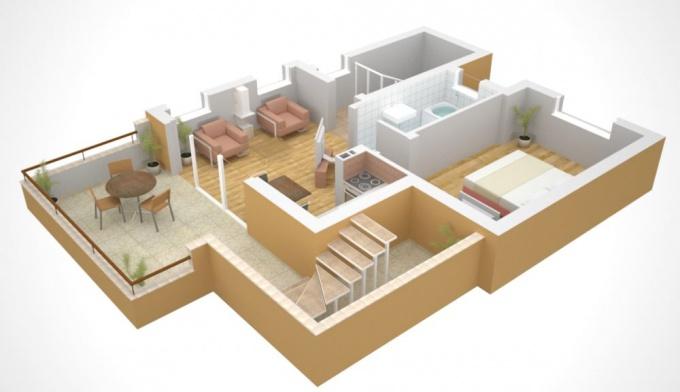 Дизайн однокомнатной квартиры для семьи с ком : 75 фото идей