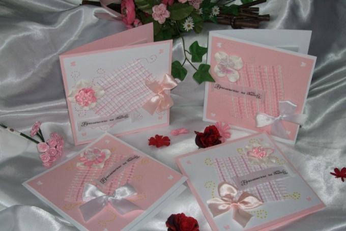 Как сделать свадебное приглашение своими руками