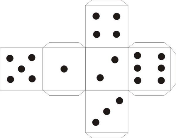 выкройка кубика