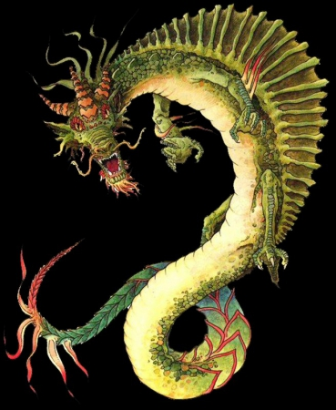 Как сделать китайского дракона