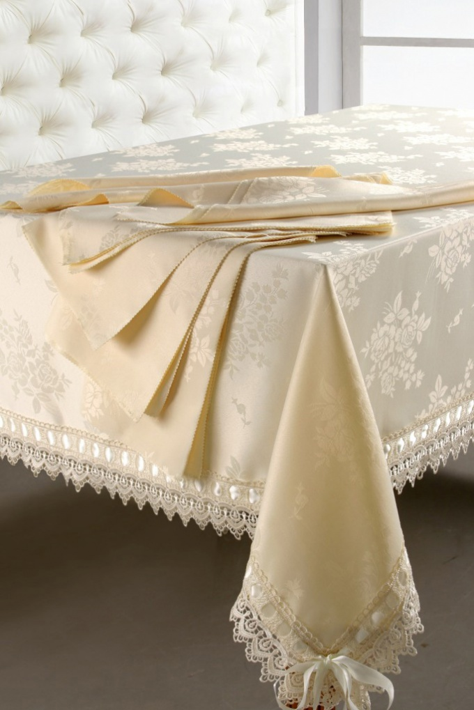 The tablecloth will decorate any celebration.