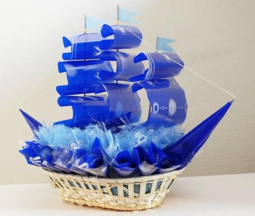 Пример кораблика,  сделанного своими руками
