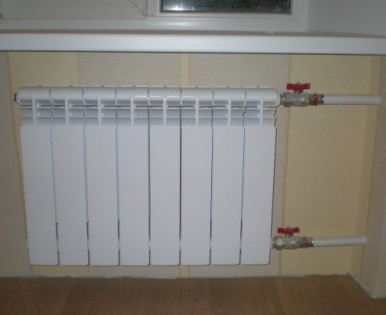 Как установить батареи отопления