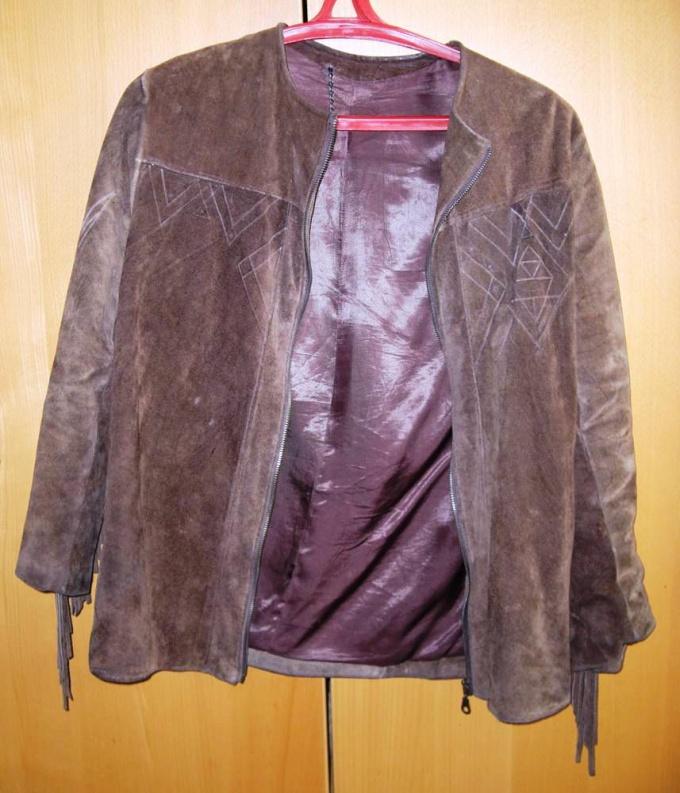 Как чистить замшевые куртки