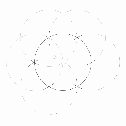 How to divide a circle into 12 parts