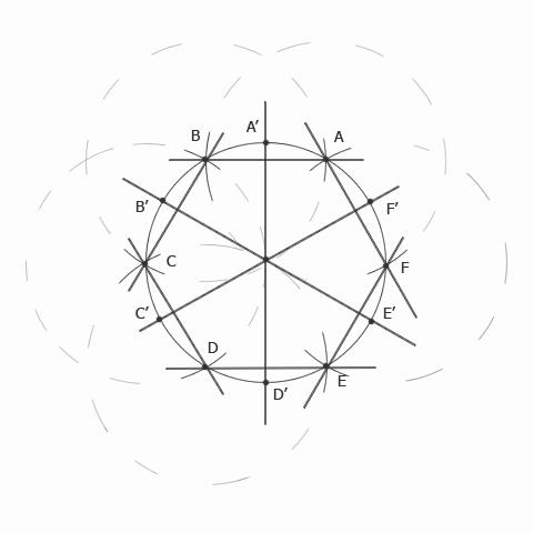 Окружность, разделенная на 12 частей