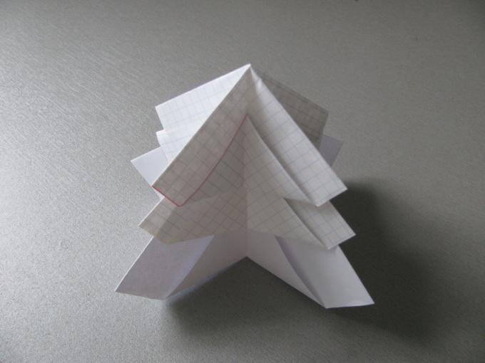Как сделать ёлку оригами