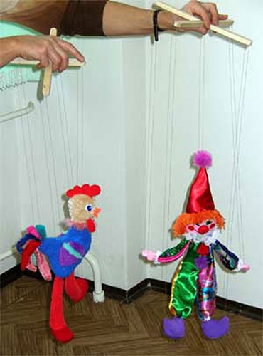 Кукла марионетка из ткани лёгкие варианты