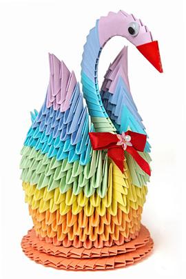 Лебедь оригами - прекрасный подарок