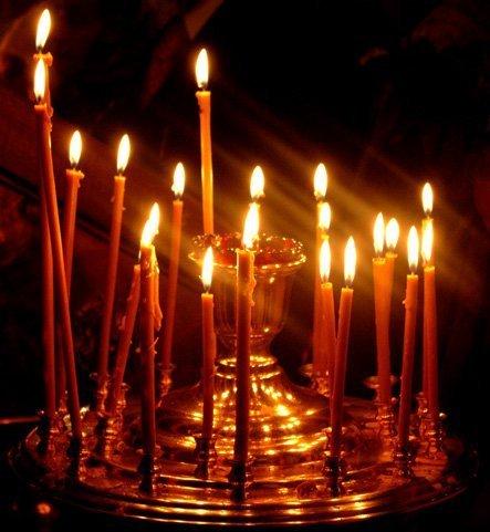 Как ставить свечку за здравие