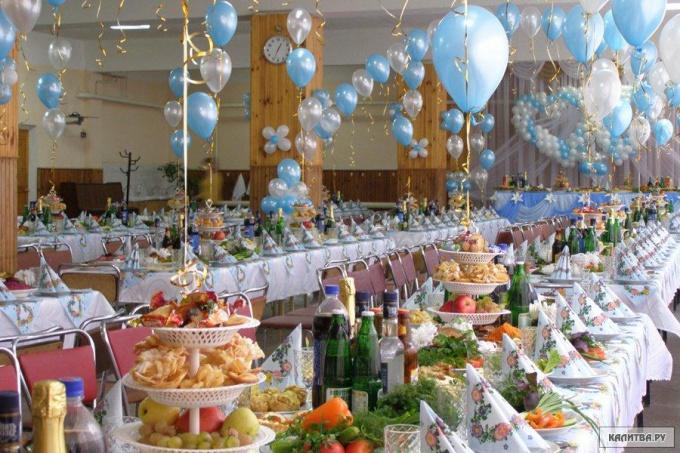 Готовый праздничный зал.