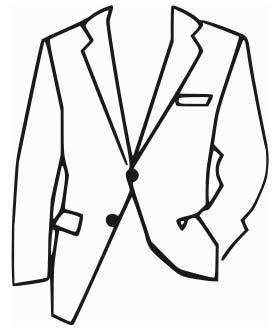 Однобортный пиджак на двух пуговицах