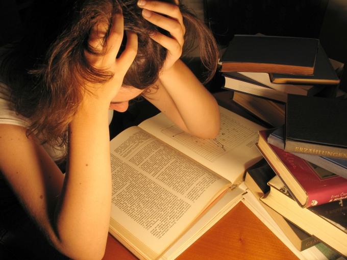 Студентка за учебой