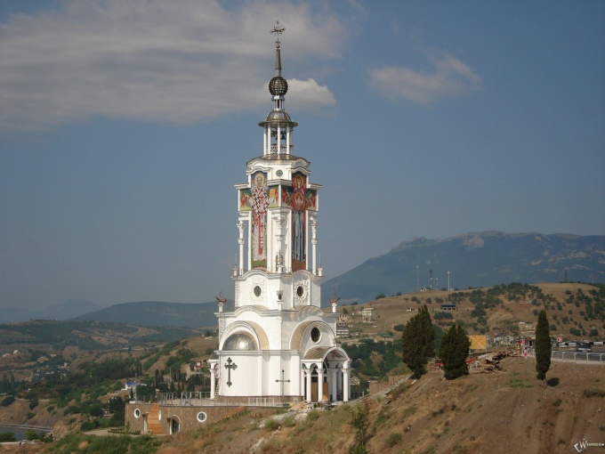 Orthodox chapel in the Eastern Crimea
