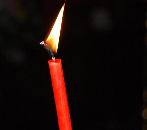Церковная свеча - индикатор