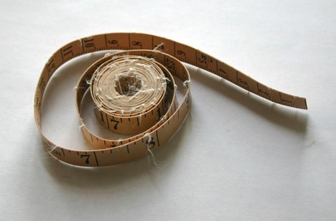 Для снятия мерок используйте сантиметровую ленту
