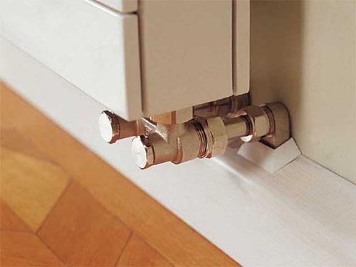 Как закрыть трубы на полу