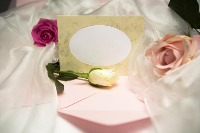 Приглашение создает настроение будущей свадьбы