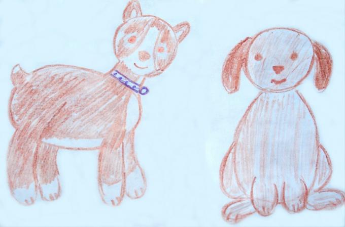 Как нарисовать щенка карандашом