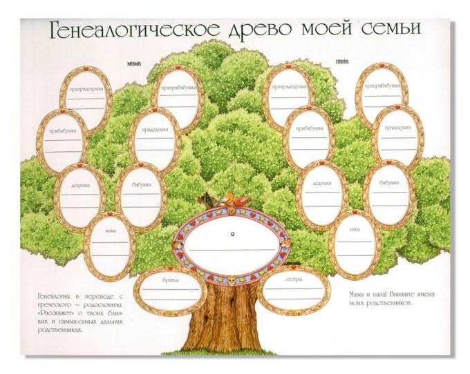Как сделать генеалогическое <strong>дерево</strong>
