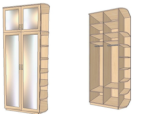 Drawing of a wardrobe. Professional sketch