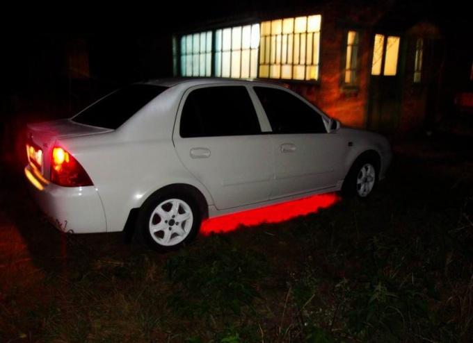 Как сделать подсветку в <strong>автомобиль</strong>