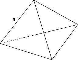 Как найти объем правильного тетраэдра