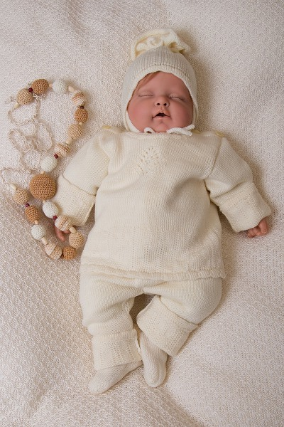 How to knit a blouse newborn