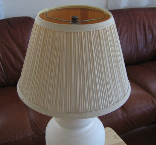 How to make a lampshade for a table lamp